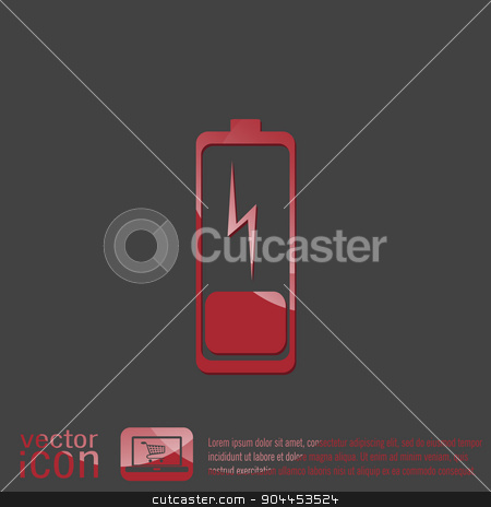 discharged battery.  symbol a discharged battery. icon energy stock vector clipart, discharged battery. symbol a discharged battery. icon energy by LittleCuckoo