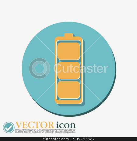 charged battery. symbol a charged battery. icon energy stock vector clipart, charged battery. symbol a charged battery. icon energy by LittleCuckoo