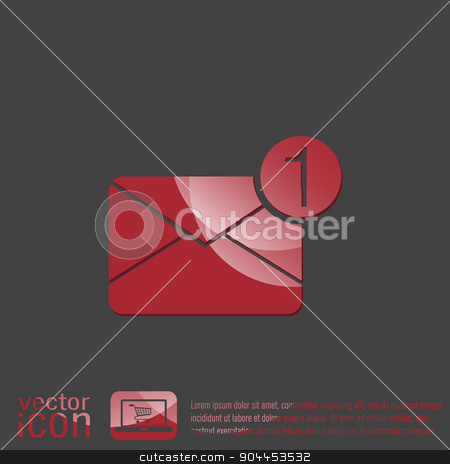 postal envelope. e-mail symbol . icon envelope. stock vector clipart, postal envelope sign. e-mail symbol . icon envelope. by LittleCuckoo
