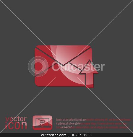 postal envelope. e-mail symbol . icon envelope. stock vector clipart, postal envelope sign. e-mail symbol . icon envelope. by LittleCuckoo