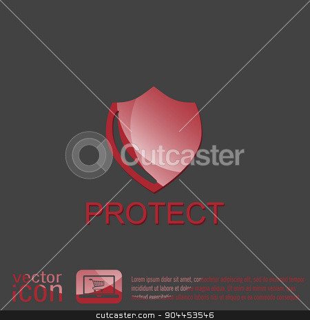 shield, a symbol of protection. shield stock vector clipart, shield, a symbol of protection. shield by LittleCuckoo