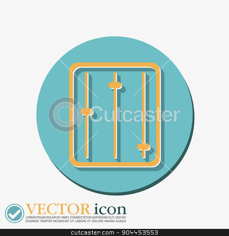 equalizer. stock vector clipart, equalizer sign. by LittleCuckoo