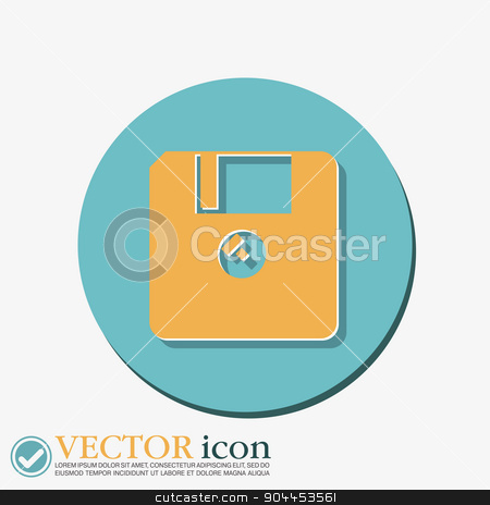 floppy, diskette. symbol store information document. computer floppy disk icon . stock vector clipart, floppy, diskette. symbol store information document. computer floppy disk icon . by LittleCuckoo