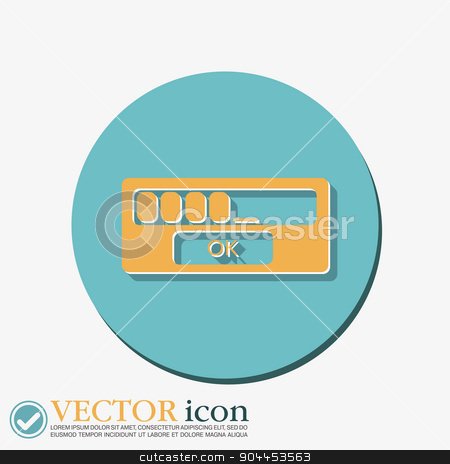 the web-interface. stock vector clipart, the symbol of the web-interface sign. by LittleCuckoo