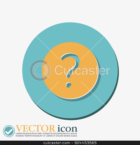 question mark. stock vector clipart, the question mark sign. by LittleCuckoo