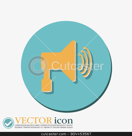 loudspeaker, Volume icon . sound icon stock vector clipart, loudspeaker sign. Volume icon . sound icon by LittleCuckoo