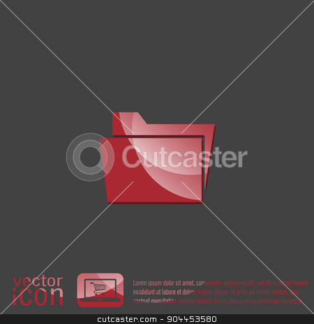 folder for documents. stock vector clipart, folder for documents sign. by LittleCuckoo