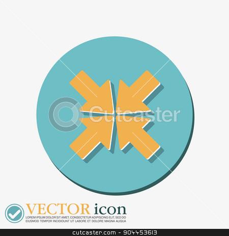 the move arrows stock vector clipart, move arrows sign by LittleCuckoo