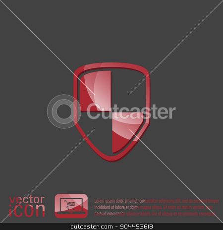 protect shield icon stock vector clipart, protect shield icon by LittleCuckoo