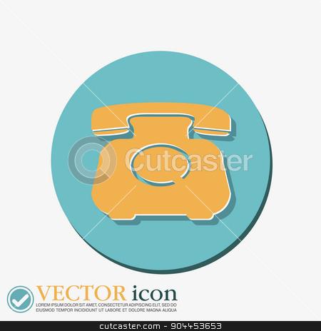 classic retro phone stock vector clipart, classic retro phone by LittleCuckoo
