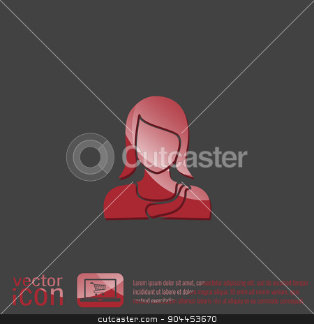 A female avatar. Avatar of a woman.  stock vector clipart, A female avatar. Avatar of a woman.   by LittleCuckoo