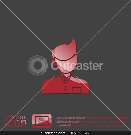 A male avatar. Picture a man.  Manager or an office worker . stock vector clipart, A male avatar. Picture a man.  Manager or an office worker . by LittleCuckoo
