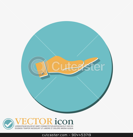 Hand icon stock vector clipart, Hand icon by LittleCuckoo