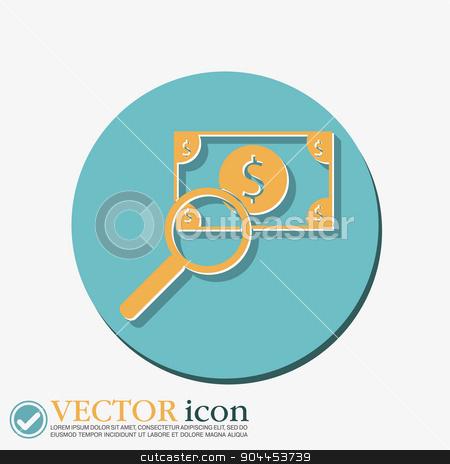 Dollar bill. symbol of money stock vector clipart, Dollar bill. symbol of money by LittleCuckoo