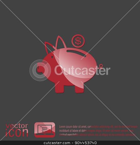 piggy bank. symbol of money stock vector clipart, piggy bank. symbol of money by LittleCuckoo