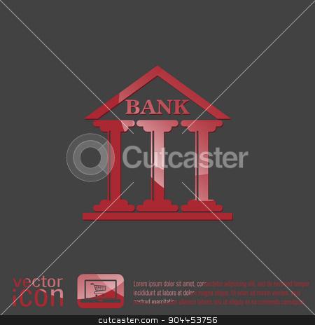 bank building. stock vector clipart, bank building. by LittleCuckoo