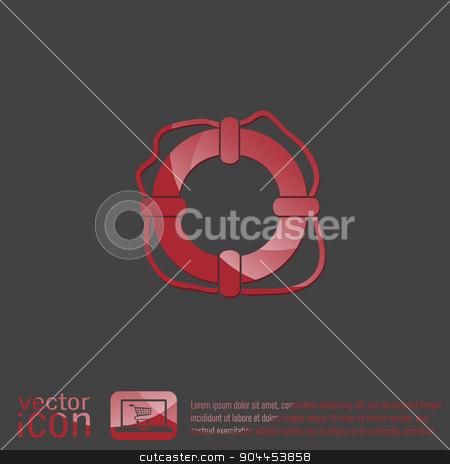 lifebuoy icon stock vector clipart, lifebuoy icon by LittleCuckoo