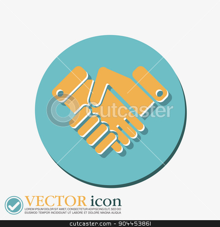 shaking hands icon, handshake. business and finance symbol stock vector clipart, shaking hands icon, handshake. business and finance symbol by LittleCuckoo