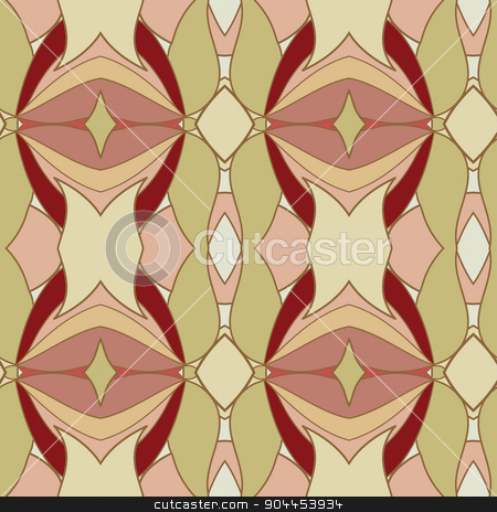 Abstract seamless ornament pattern.kaleidoscope effect. stock vector clipart, Abstract seamless ornament pattern. the kaleidoscope effect. Ethnic damask motif. Vintage style pattern. Vector illustration by LittleCuckoo