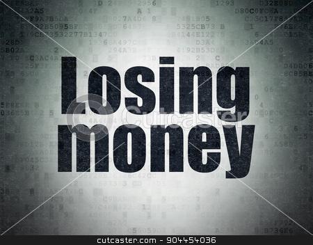 Money concept: Losing Money on Digital Paper background stock photo, Money concept: Painted black word Losing Money on Digital Paper background by mkabakov