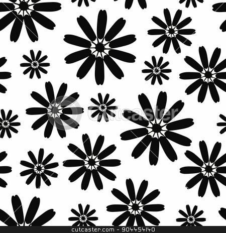 seamless background with flowers stock vector clipart, seamless background with a variety of flowers by Aleksandra Serova