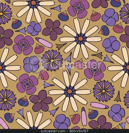 seamless background with flowers stock vector clipart, seamless background with a variety of flowers by Aleksandra Serova