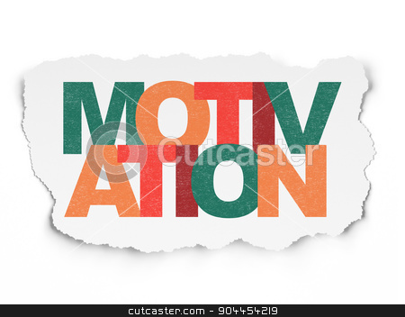 Finance concept: Motivation on Torn Paper background stock photo, Finance concept: Painted multicolor text Motivation on Torn Paper background, 3d render by mkabakov