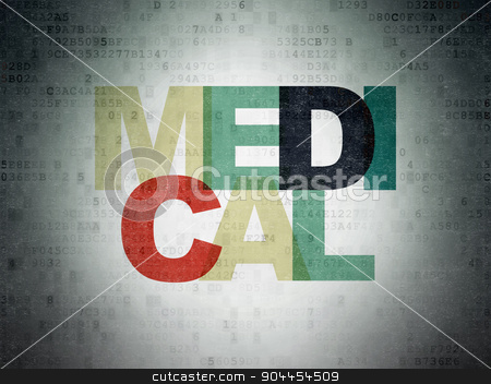 Healthcare concept: Medical on Digital Paper background stock photo, Healthcare concept: Painted multicolor text Medical on Digital Paper background by mkabakov