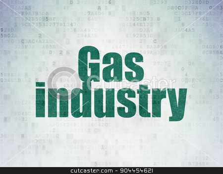 Industry concept: Gas Industry on Digital Paper background stock photo, Industry concept: Painted green word Gas Industry on Digital Paper background by mkabakov