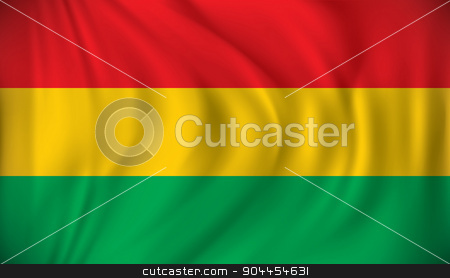 Flag of Bolivia stock vector clipart, Flag of Bolivia - vector illustration by ojal_2