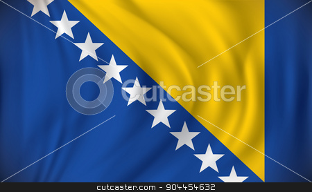 Flag of Bosnia and Herzegovina stock vector clipart, Flag of Bosnia and Herzegovina - vector illustration by ojal_2