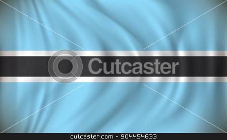 Flag of Botswana stock vector clipart, Flag of Botswana - vector illustration by ojal_2