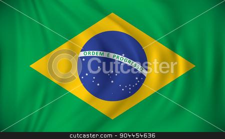 Flag of Brazil stock vector clipart, Flag of Brazil - vector illustration by ojal_2