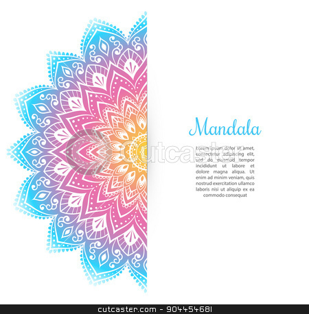 Color Mandala background template stock vector clipart, Vector illustration of Color Mandala background template by SonneOn