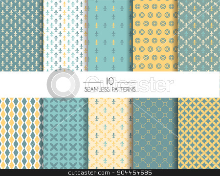 Set of geometric seamless patterns stock vector clipart, Vector illustration of Set of geometric seamless patterns by SonneOn