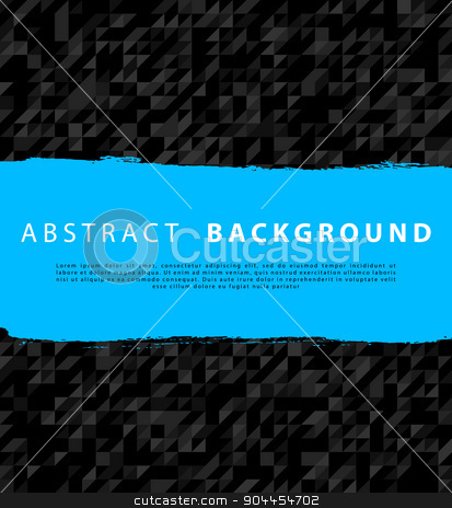 Triangle background stock vector clipart, Vector illustration of Triangle background with blue by SonneOn