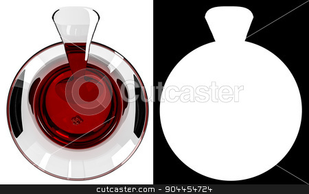 Glass of Turkish tea stock photo, Glass of Turkish tea on white background with alpha mask by p.studio66