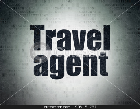 Travel concept: Travel Agent on Digital Paper background stock photo, Travel concept: Painted black word Travel Agent on Digital Paper background by mkabakov