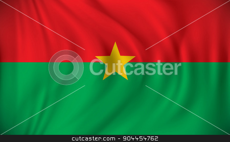 Flag of Burkina Faso stock vector clipart, Flag of Burkina Faso - vector illustration by ojal_2