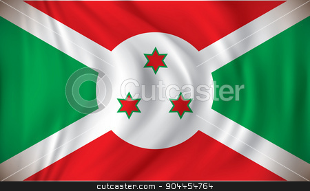 Flag of Burundi stock vector clipart, Flag of Burundi - vector illustration by ojal_2