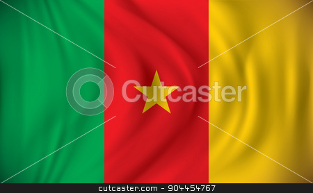 Flag of Cameroon stock vector clipart, Flag of Cameroon - vector illustration by ojal_2