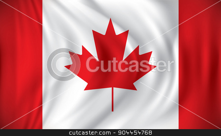 Flag of Canada stock vector clipart, Flag of Canada - vector illustration by ojal_2