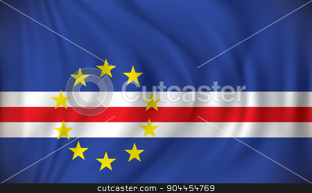 Flag of Cape Verde stock vector clipart, Flag of Cape Verde - vector illustration by ojal_2