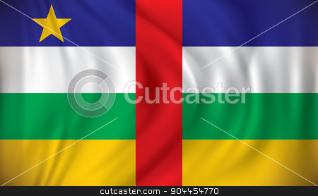 Flag of Central African Republic stock vector clipart, Flag of Central African Republic - vector illustration by ojal_2