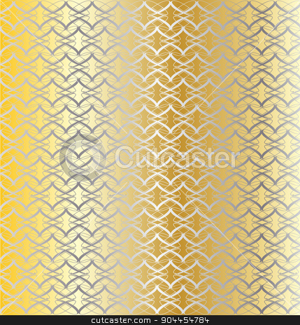 Silver and Gold Linked Background stock vector clipart, A gold and silver linked pattern background by Kotto