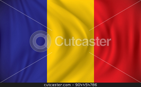 Flag of Chad stock vector clipart, Flag of Chad - vector illustration by ojal_2