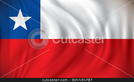 Flag of Chile stock vector clipart, Flag of Chile - vector illustration by ojal_2