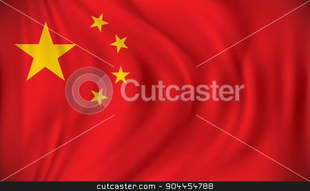 Flag of China stock vector clipart, Flag of China - vector illustration by ojal_2