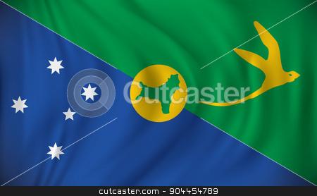 Flag of Christmas Island stock vector clipart, Flag of Christmas Island - vector illustration by ojal_2