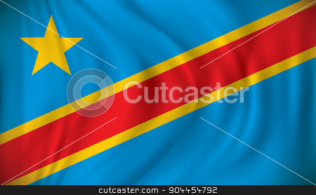 Flag of Democratic Republic of the Congo stock vector clipart, Flag of Democratic Republic of the Congo - vector illustration by ojal_2